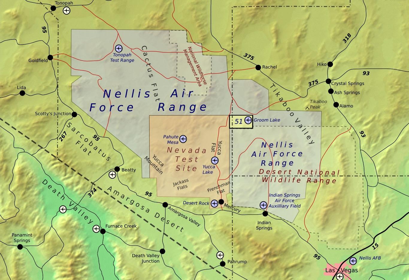 area  map. area   las vegas private tours